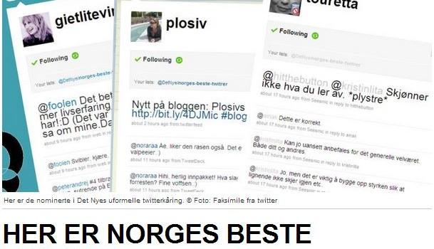 Norges beste twitrer – Det Nye