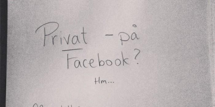 Jeg vil være privat på Facebook