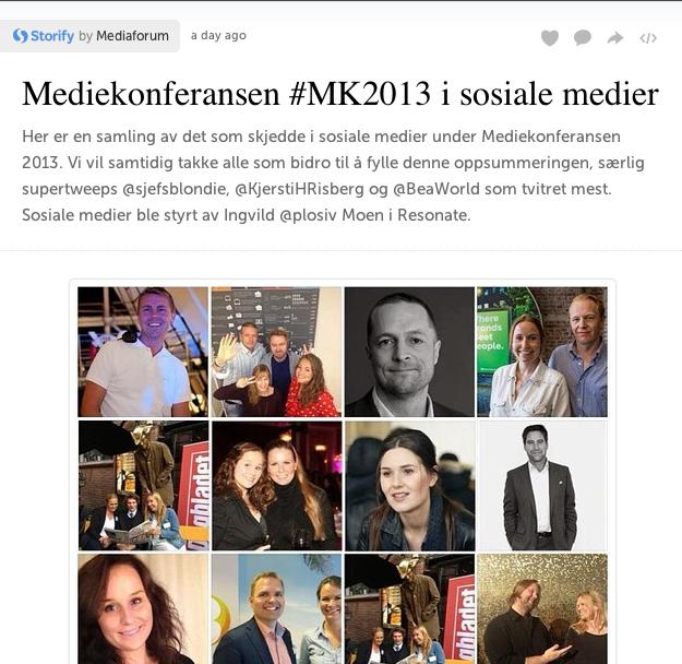 Storify Mediekonferansen 2013