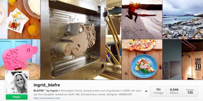 Instagram-eksempel til etterfølgelse: Ingrid_blafre