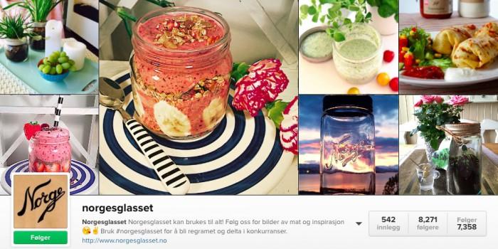 Instagram-eksempel til etterfølgelse: Norgesglasset