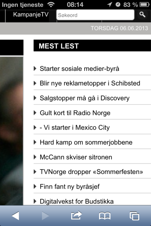 Resonate mest lest på Kampanje