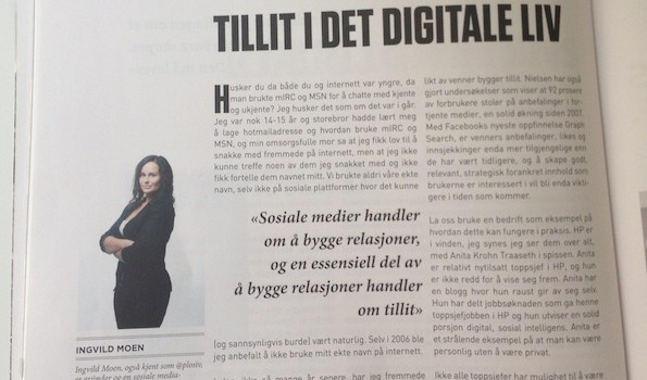 Tillit i det digitale liv – skrevet for Kampanje Magasin