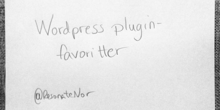 Mine 7 favoritt WordPress-plugins