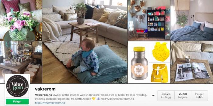 Instagram-eksempel til etterfølgelse: Vakrerom